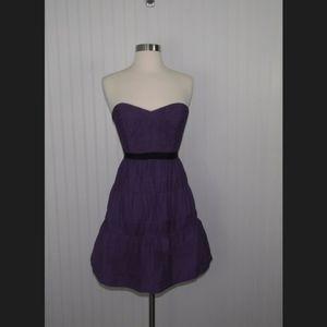 BCBGMaxAzria Purple Strapless Dress
